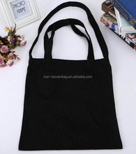 blank black canvas shopper bag with sling