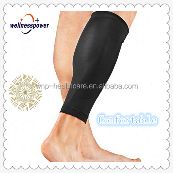Elastic leg support for medical sports