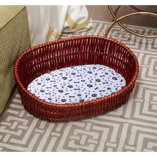 Newest eco-friendly wicker pet cat dog bed house Pet Warm Basket Bed wooden house