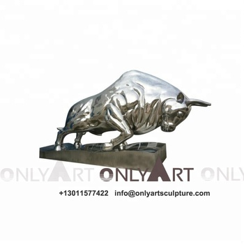 Chinese supplier wholesale metal welding steel bull sculpture WY-S S17