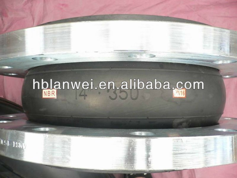 Good Quality expansion rubber bellow joint with flange tie