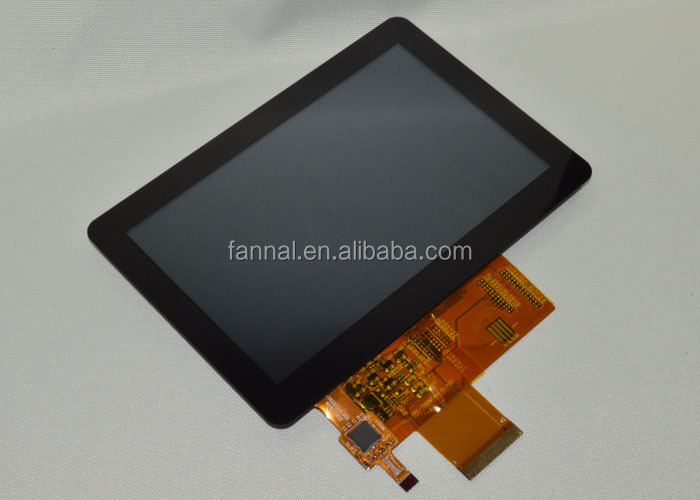 customized multi touch screen G+G STRUCTURE 5 inch TFT LCD monitor