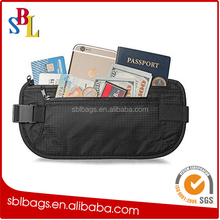 RFID Blocking Money Belt , Waterproof Fanny Pack Passport Holder