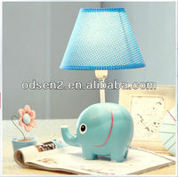 Odsen children lovely blue elephant shape table lamps for home as gift made in ZhongShan