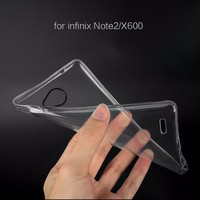 Transparent Clear Bulk Silicone Phone Back Case For Infinix Note 2 X600