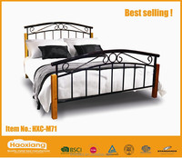 Hot selling modern high quality wooden bed post metal bed frame