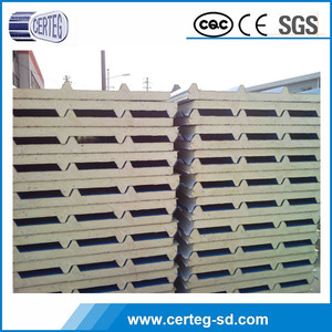 0.6mm metal thickness Water resistant fire rated heat insulated eps sandwich panel
