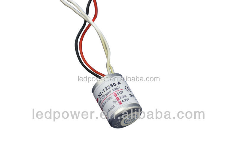 300mA 350ma Waterproof Constant Current mini led switching power supply