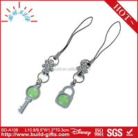 mobile phone strap hang around neck Lovers phone line