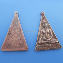 3D antique copper metal buddha charms pendant