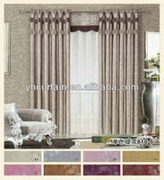 jacquard blackout drapery curtain for bed room