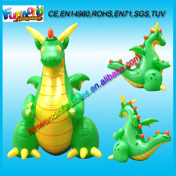 2014 Green Inflatable Dragon, Inflatable Dragon Toys, Inflatable Dragon Model For Sale (FUNPM1-070)