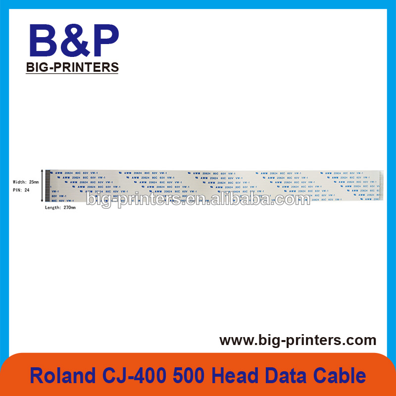 Durable !!!! Inkjet Printer Spare Parts Cable Roland CJ-400 / CJ-500 / SC-500 24p 2700mm 1.0 A Head Data Cable