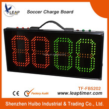 Power supply led portable used football subsyitution scoreboard