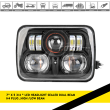 H6054 H6053 H6052 H6014 54W 7 Inch LED Headlight For Jeep Van F250 toyota