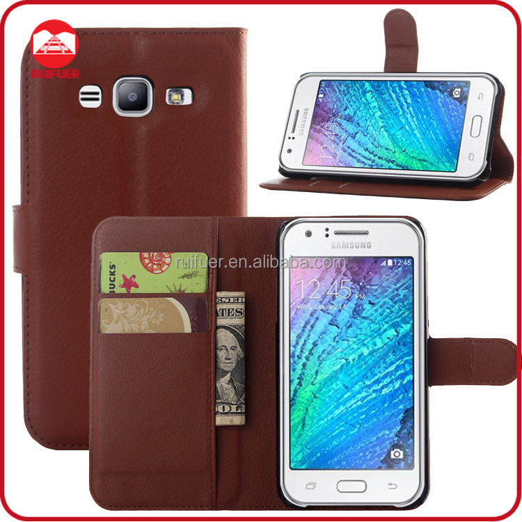 Manufacturer Wholesaler Mobile Phone Stand Book Style Wallet Leather Flip Smartphone Case for Samsung Galaxy J5 Back Cover