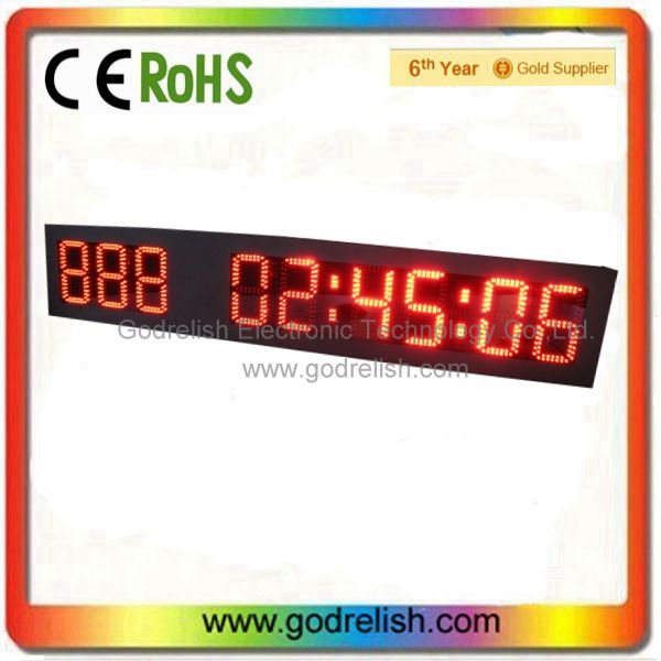 New design digital wooden wall clock display with low price