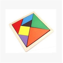 2018 New popular in Germany toy educational early learning kids wooden toys wholesale colorful tangram puzzle