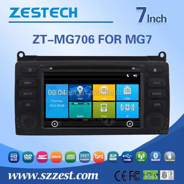 car dvd gps for MG7 car dvd gps with rear view camera with RDS TV bluetooth car camera