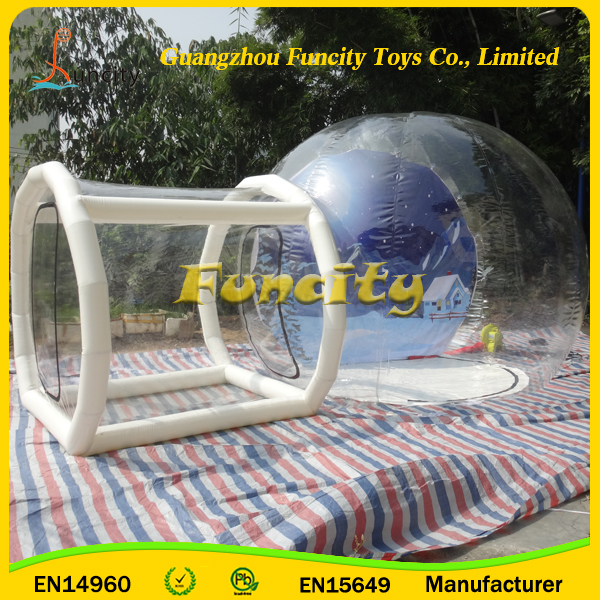 Airblown Yard Inflatable Bubble Tent Decoration/Amazing experience live in a giant transparent bubble house