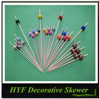Hot Selling Halloween Decoration Bead Bamboo Skewers
