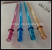 Long and novelty plastic drinking straw for drink promotion