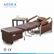 AG-AC007 hospital medical patient room attendant accompany foldable adjustable luxurious cheap recliner sleeper chair bed