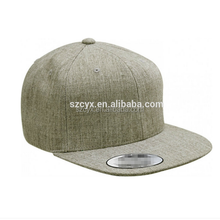 6 panel plain snapback cap wholesale blank snapback hat