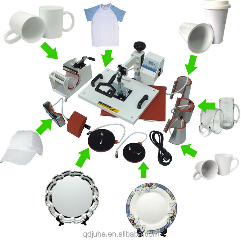 8 in 1 Tshirt/Mug/Cap/Plate Combo heat press (single heating) machine
