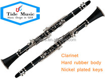 High quality cheap clarinet hard rubber body nickel plated
