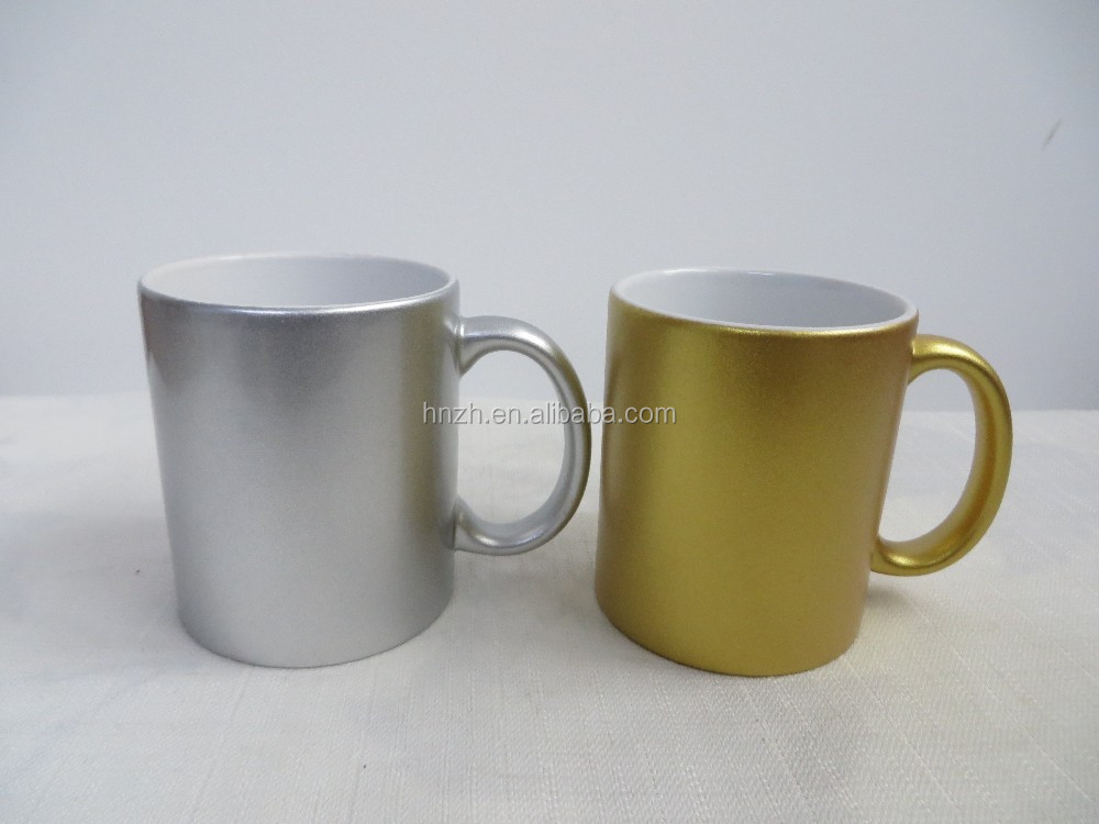 Ceramic v shape 11oz glaze spraying mug