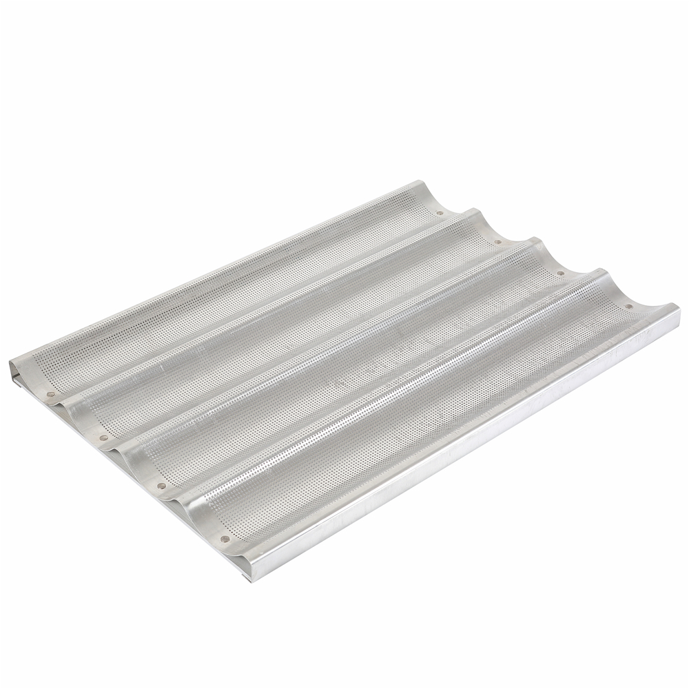 Amazon Top Seller 2018 Aluminum Tray 5 Slots French Baguette Pan For Bread Bakeware
