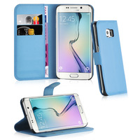 Multifunctional Flip Wallet Litchi Pattern Leather Case for Samsung Galaxy S6 Edge