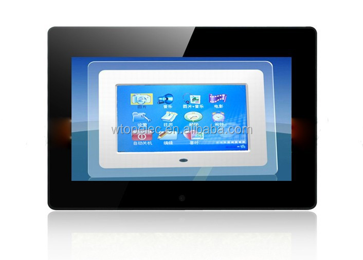 10 Digital Photo Frame, 10 Inch Digital Photo Frame Multiple Function, Support Video & Wood 10 Inches Digital Photo Frame