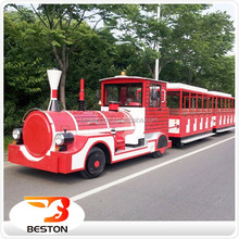 Outdoor factory manufacturers electric park tourist train for sale
