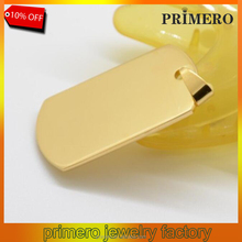 PRIMERO Men's Stainless steel and gold military card/dog tag blank board cards personalized laser engraving custom logo pendant