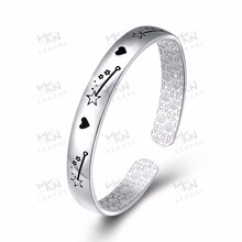 latest design vogue 925 sterling silver dripping oil shooting star jewellery bangle