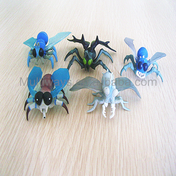 plastic small insects toys flies/small animals plastic toys/cheap small plastic toys