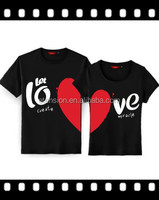 2016 Korea Fashion Love Printed T-Shirt For Couple