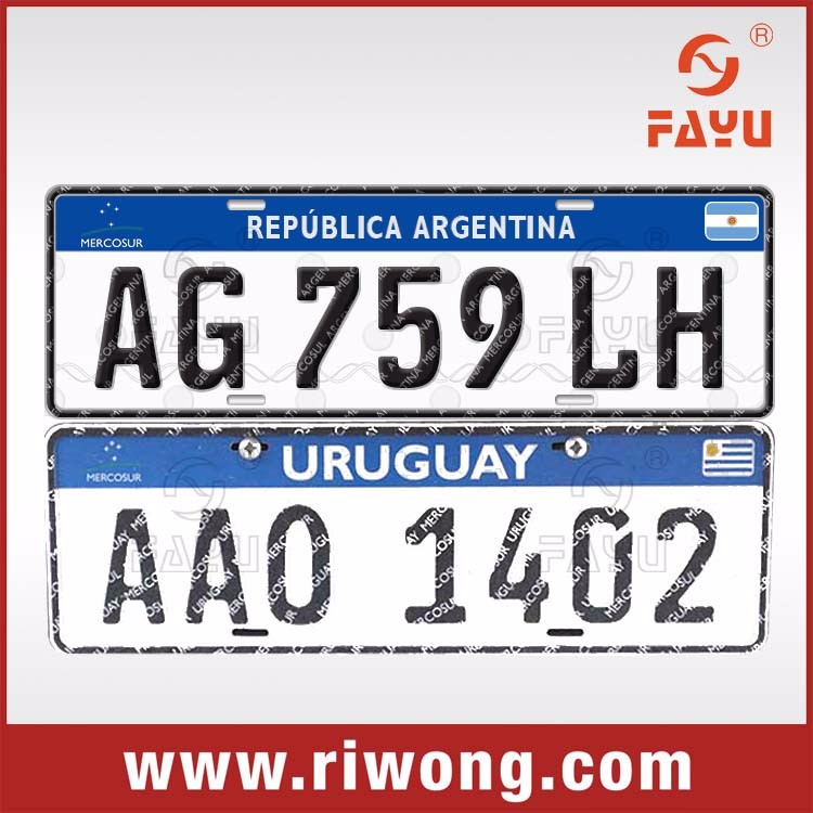 Gov tender car license plates, aluminum car number plates
