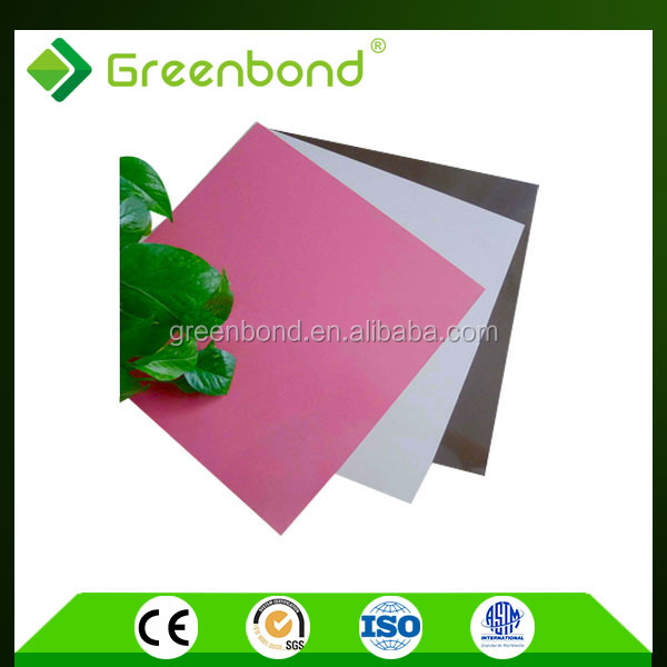 Greenbond anti-static aluminium composite fireproof panel building materials for kitchen cabinets