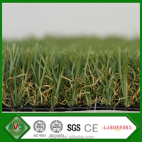 Green Artificial Grass Lawn