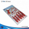 5pcs TPR|PP handle kitchen knife set