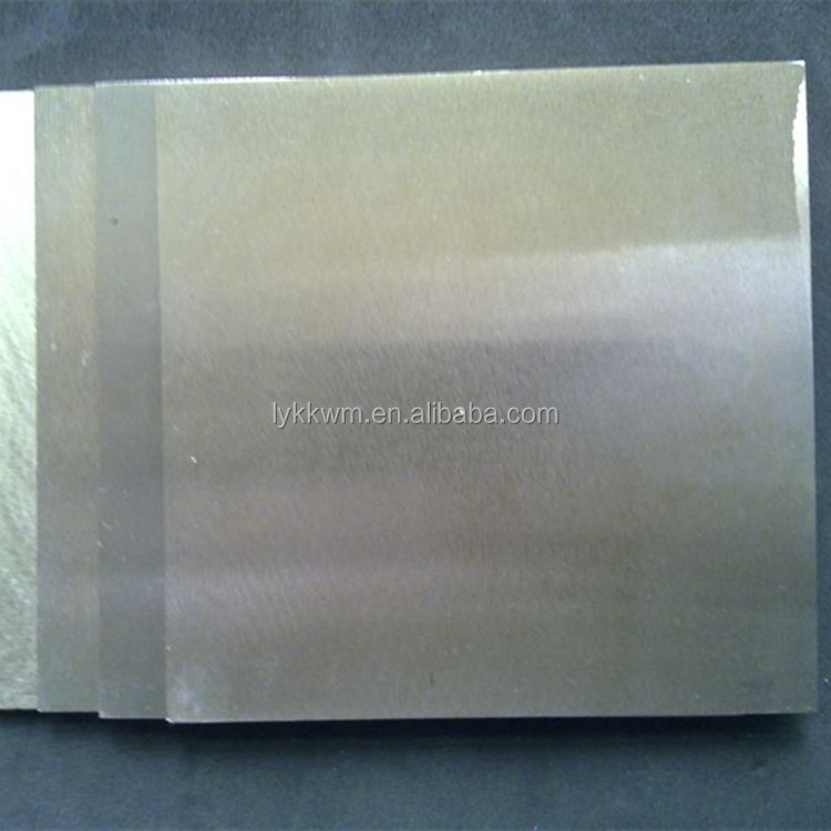 wolfram tungsten thin metal plate