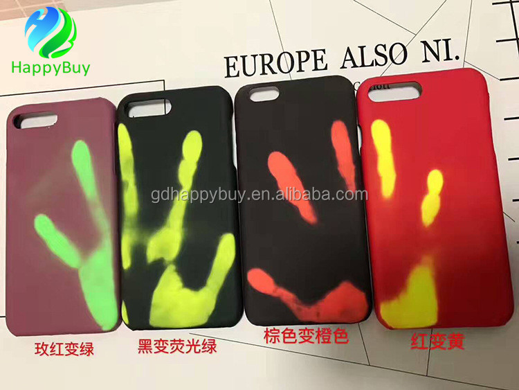PU leather heat sensitive color changing phone case for iPhone 5 6 7