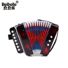Little kids 14 tones cheap and good button toy accordion for promotion