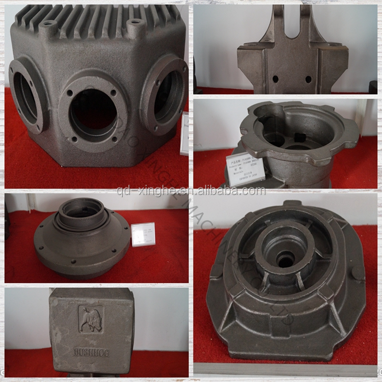 OEM resin sand casting cast iron gearbox housing