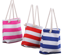 New arrival personalized Monogrammed Striped fashionable Canvas Beach Tote Bag