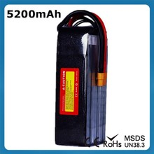 11.1V 5200mAh 3 Cell 45C Hunger Promotion 11.1V RC Lipo Battery for RC Quadcopters Helicopters Airplanes