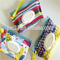 Printed plastic packaging bag for wet wipes or wet tissue